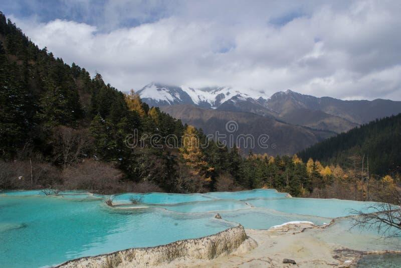 Huanglong, Sichuan, CHINE photo libre de droits