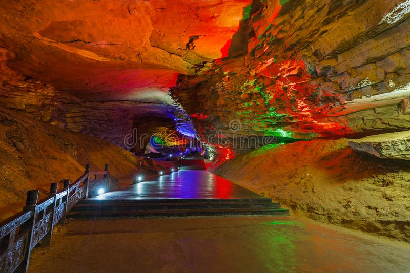 Huanglong Yellow Dragon Cave - China stock images