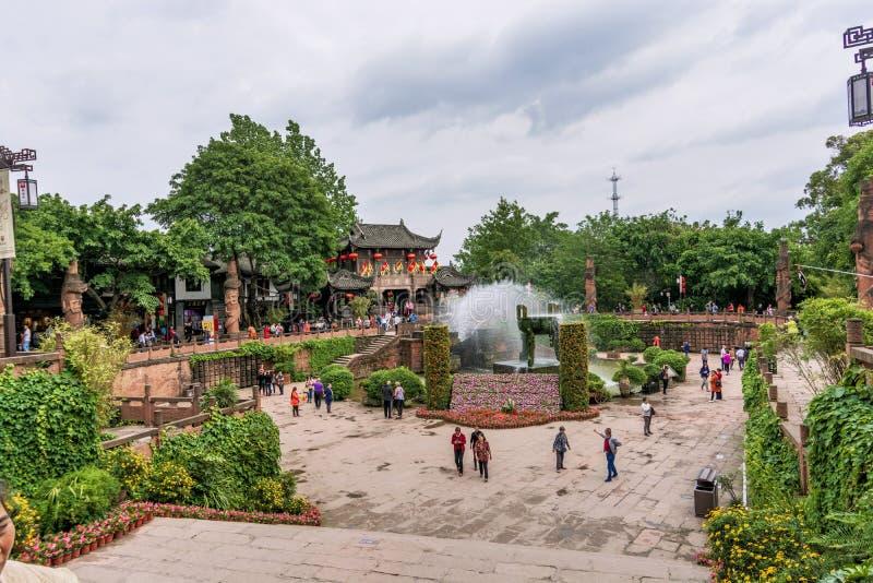 Huanglongxi, a tourist landmark in Chengdu stock photography