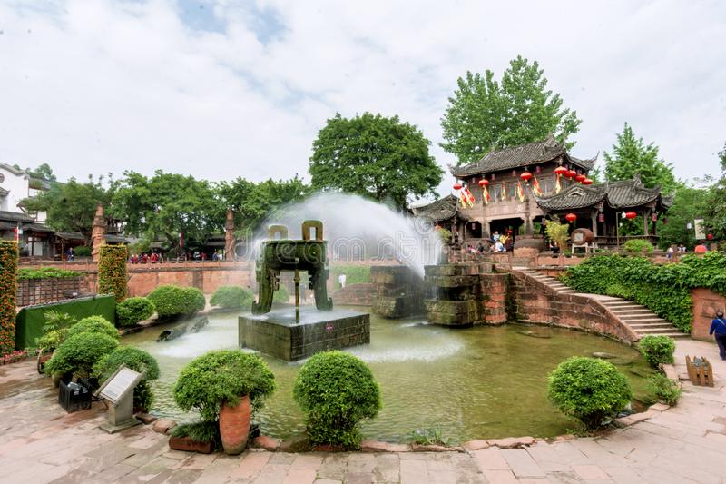 Huanglongxi, turystyczny punkt zwrotny w Chengdu obrazy royalty free