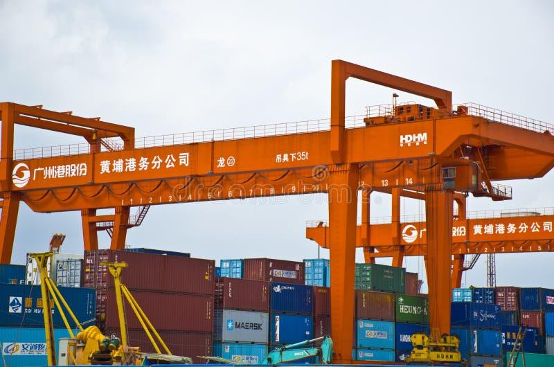 HuangPu port obrazy stock