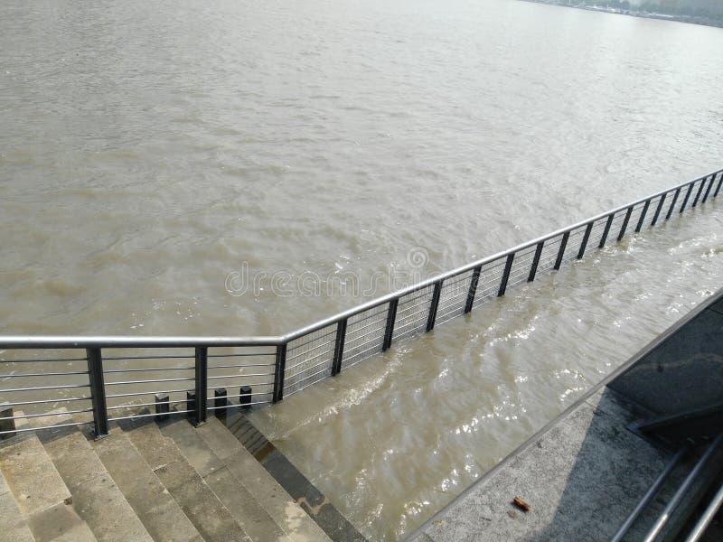 Huangpu rzeki przypływ zdjęcia stock
