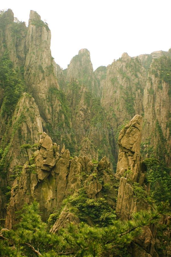 huangshan απίστευτη πέτρα θαυμάτων στοκ εικόνα