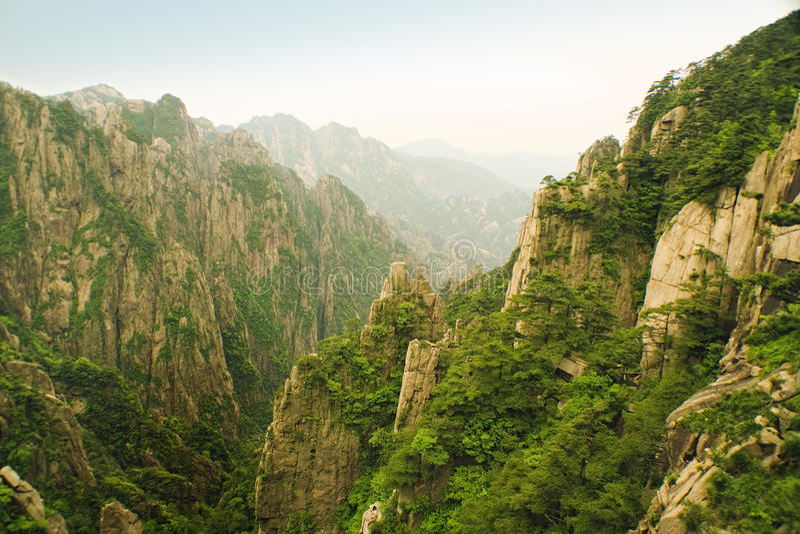 Huangshan, de gele berg, in China royalty-vrije stock afbeelding