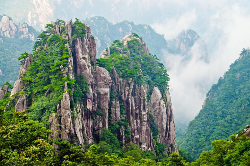 huangshan góry kolor żółty obrazy stock