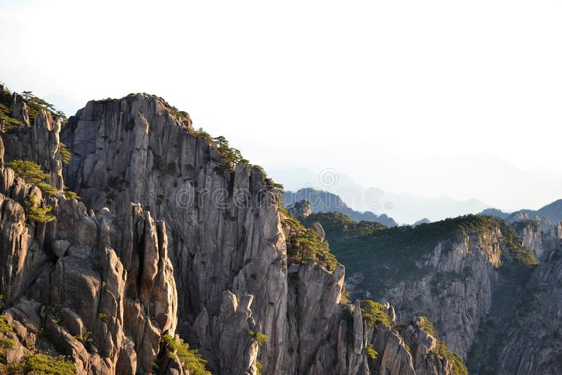 Huangshan gele berg in Anhui, China, Unesco-werelderfenis stock foto