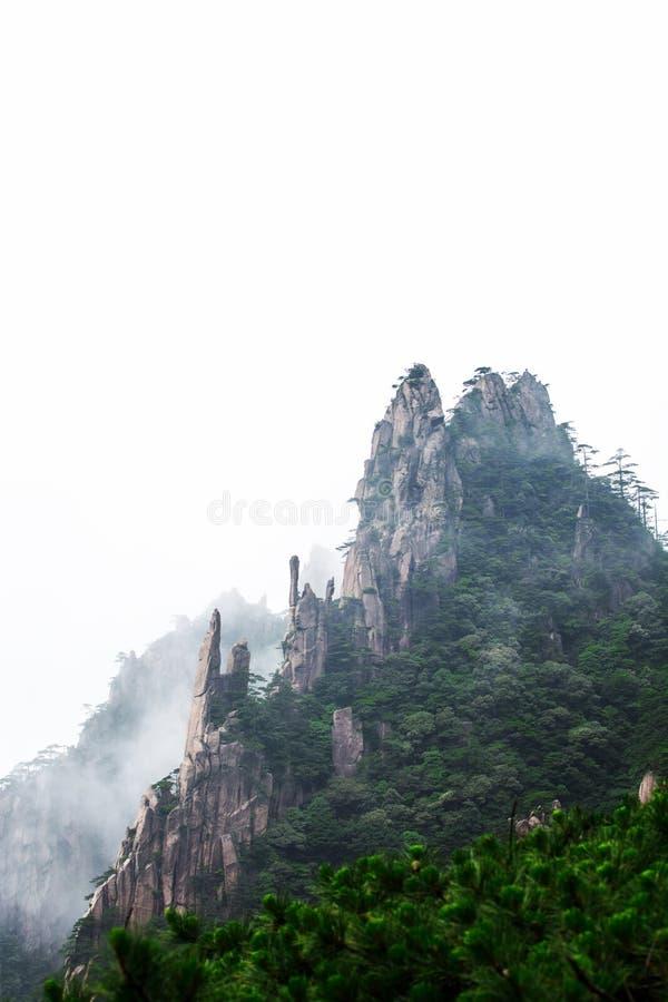 Huangshan i Kina fotografering för bildbyråer
