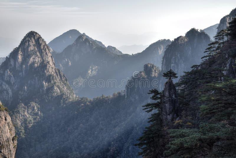 Huangshan, montanhas amarelas, na província de Anhui em China imagem de stock royalty free