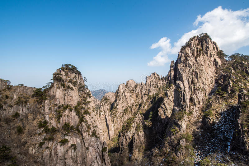 Huangshan Mountain(yellow mountain) royalty free stock image