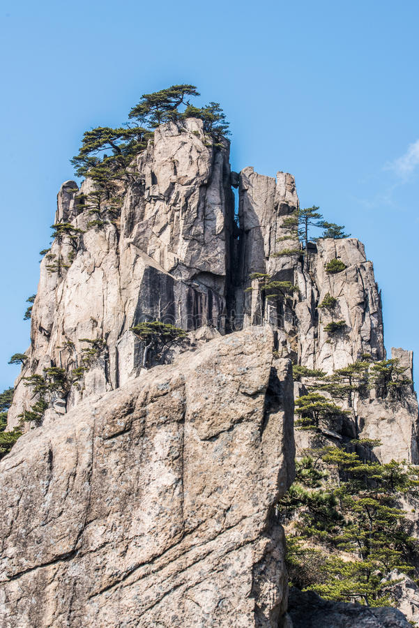 Huangshan Mountain(yellow mountain) royalty free stock photo