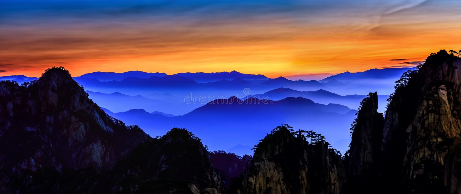 Huangshan royalty free stock images