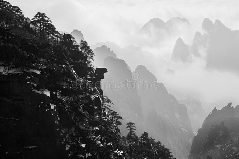 Download Huangshan Scenery stock photo. Image of pine, clouds - 111019856