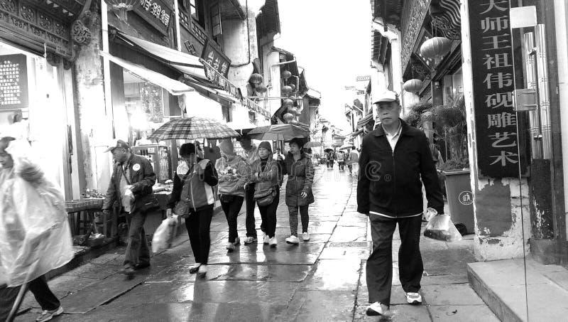 Huangshan-Stadt stockfotos