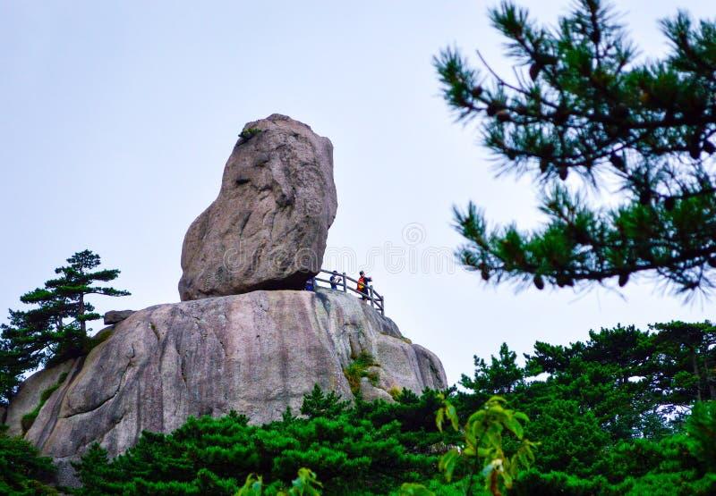 Huangshan Yellow Mountain Giant Stone stock photos