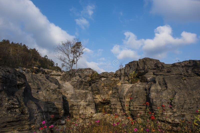 Huangshanberg ten westen van anhuilandschap royalty-vrije stock foto's