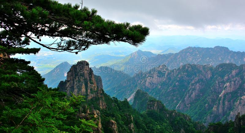 Huangshanbergen royalty-vrije stock fotografie