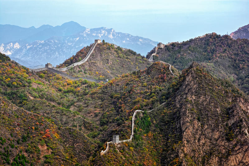 Huangyaguan Grote Muur stock afbeelding