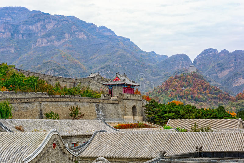 Huangyaguan Grote Muur stock foto's