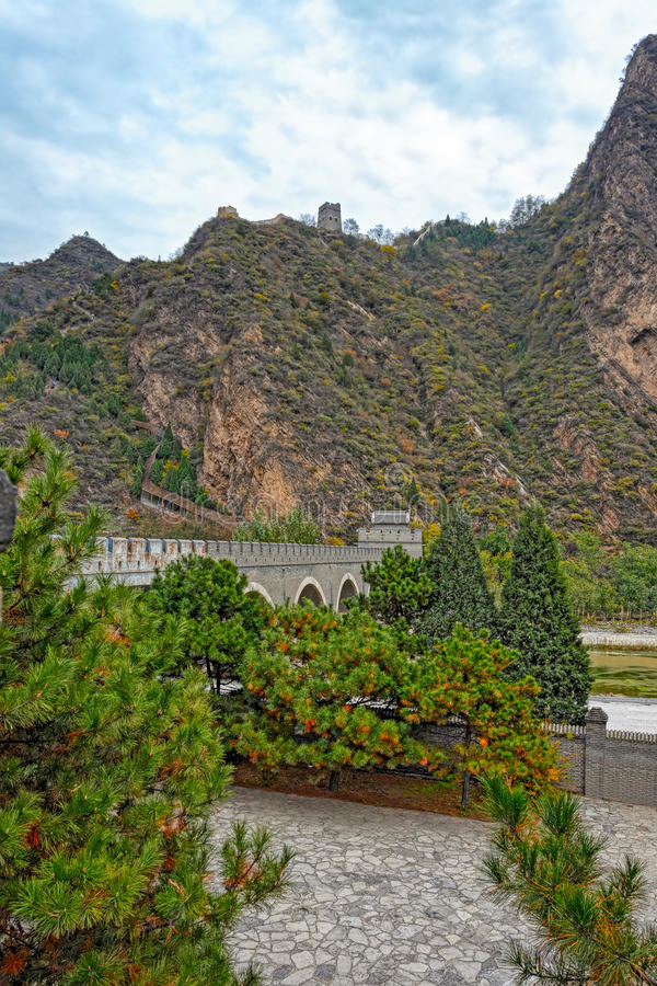 Huangyaguan stor vägg arkivfoton