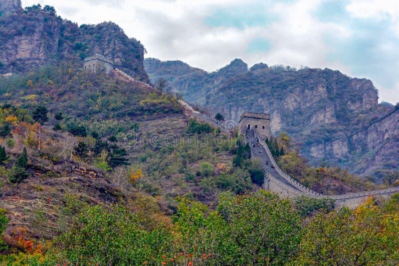Huangyaguan wielki mur zdjęcia royalty free