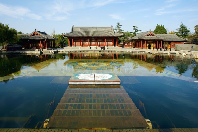 Huaqing Pool-Park stockbilder