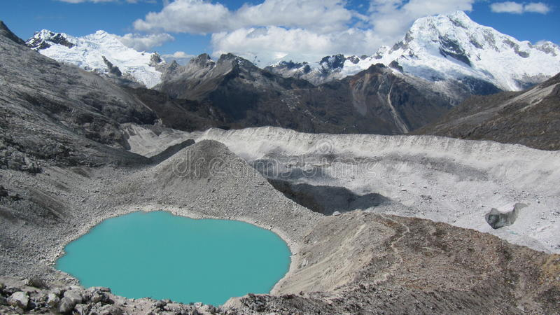 Huascará n Nationaal Park stock foto