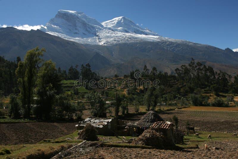 Huascaran, highest peak in Peru stock photo
