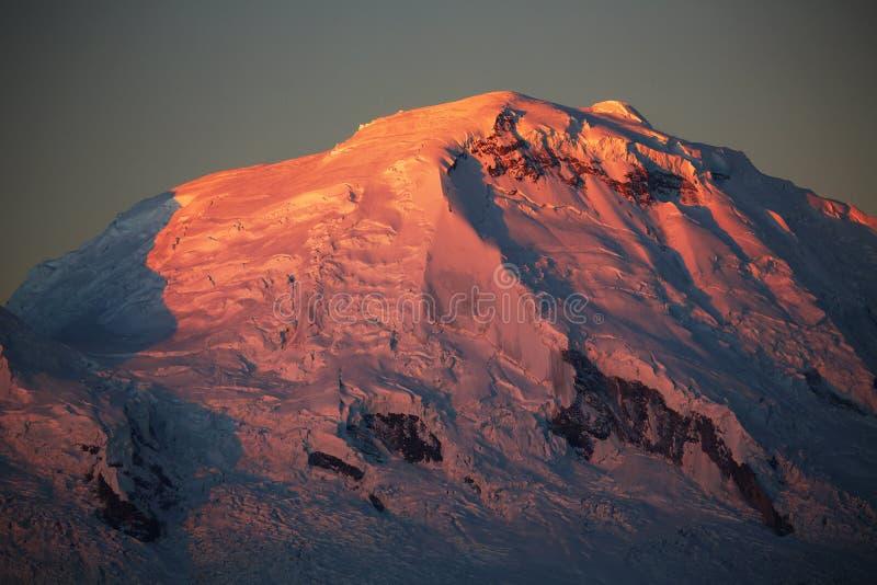 Huascaran szczyt obraz stock