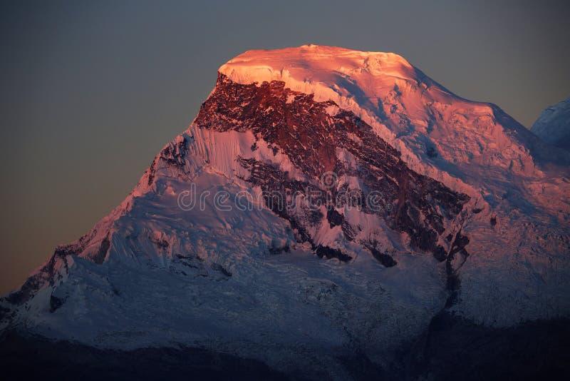 Huascaran szczyt fotografia stock