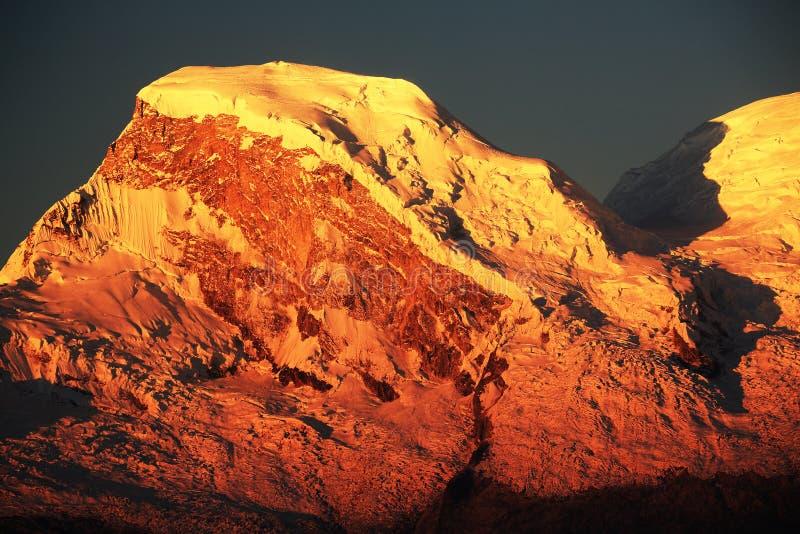 Huascaran szczyty zdjęcie stock
