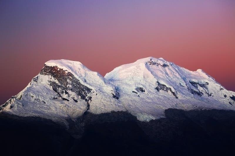 Huascaran szczyty zdjęcia stock