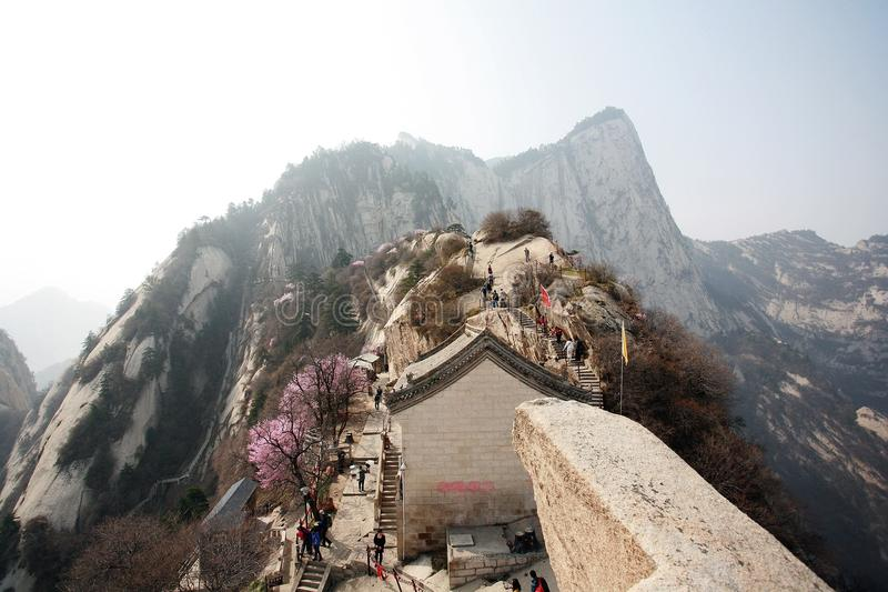 huashan гора стоковая фотография rf
