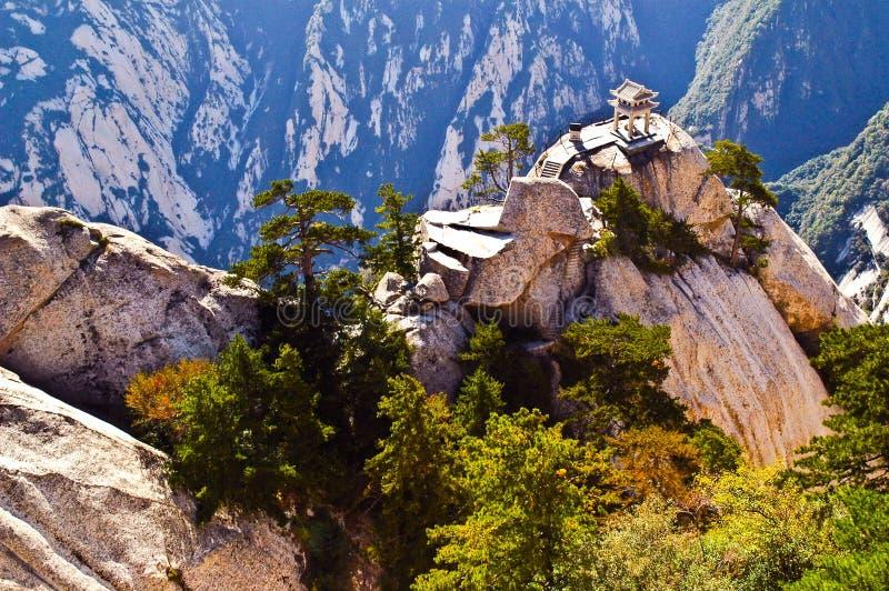 Huashan (Berg Huashan) - Huashan-schaakpaviljoen royalty-vrije stock afbeelding