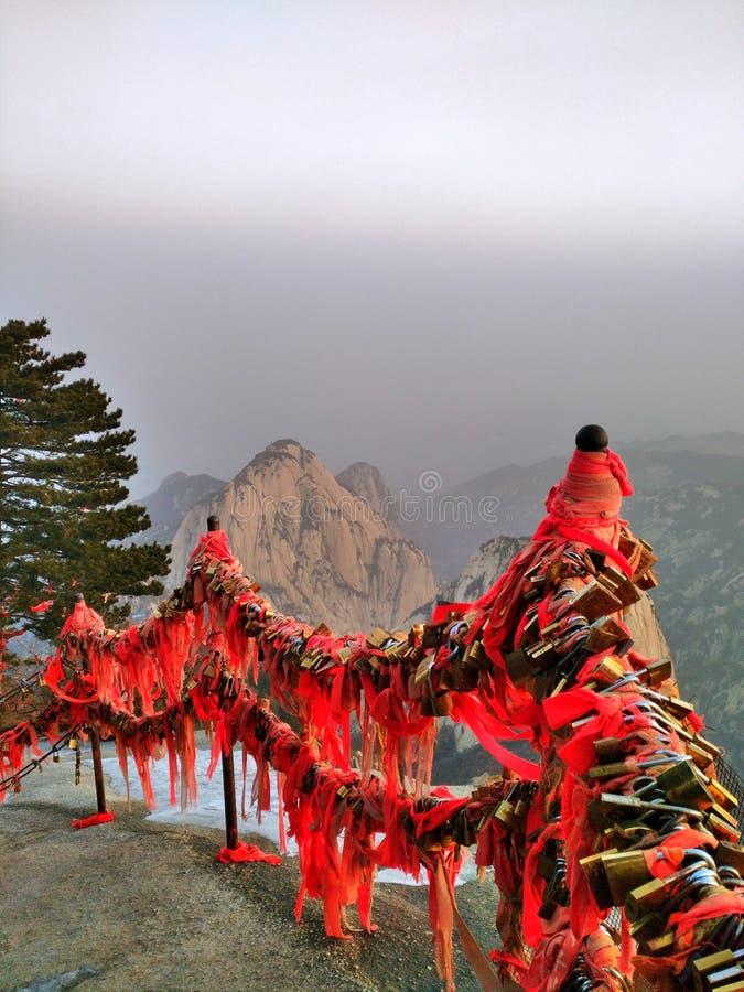 Huashan berg Kina royaltyfria bilder