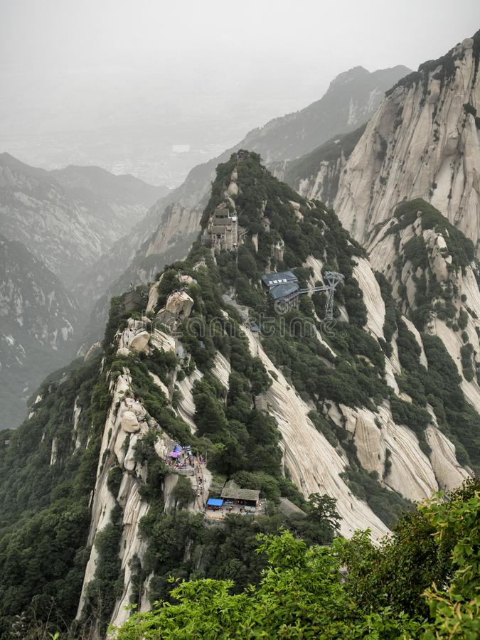 Huashan mountain North Peak view - Xian, Shaaxi Province, China.  royalty free stock images