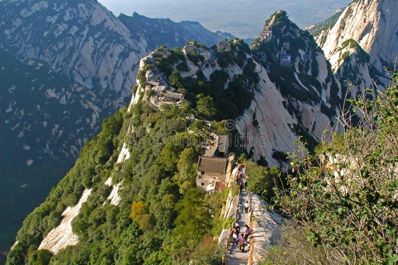 huashan shangtianti för berg 2 arkivbild