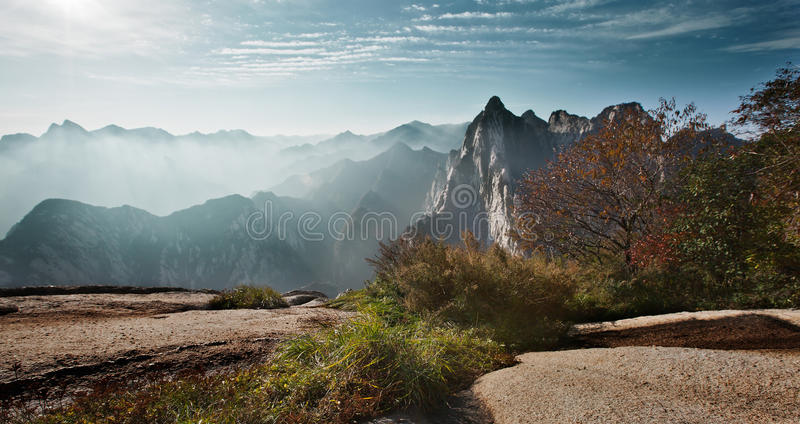Download Huashan sunrise stock photo. Image of tour, province - 28618550
