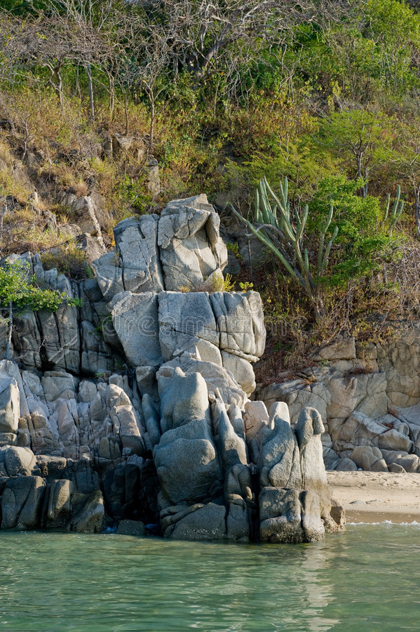 huatulco de littoral scénique images libres de droits