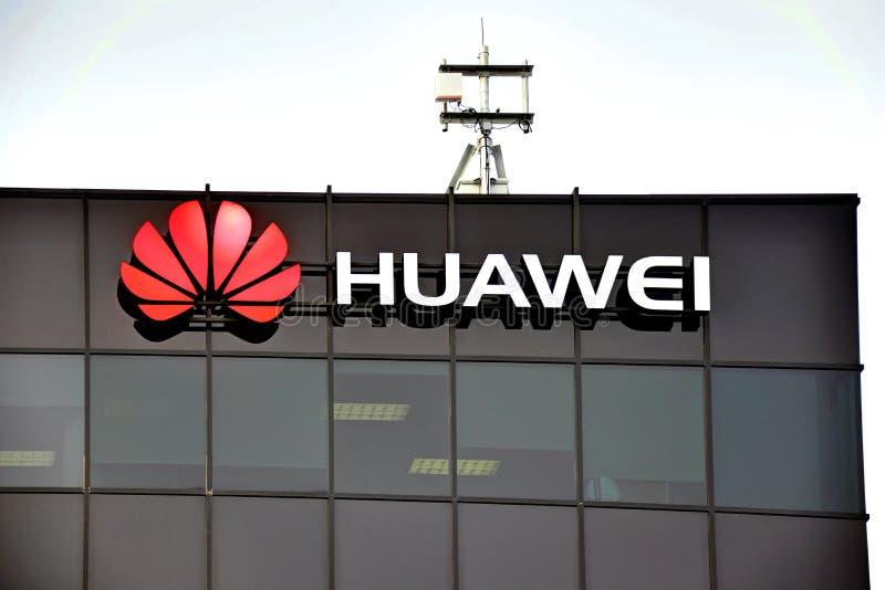 Huawei forskning & utvecklingscentrum i Kanada arkivfoto