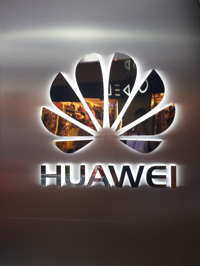 Huawei logo royaltyfri bild