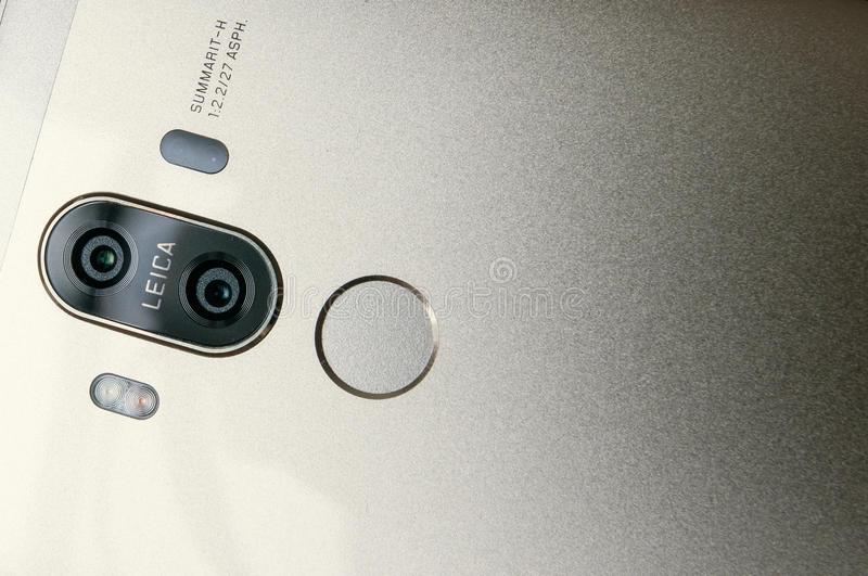 HUAWEI MATE 9. Cell phone made by huawei closed photo stock photo