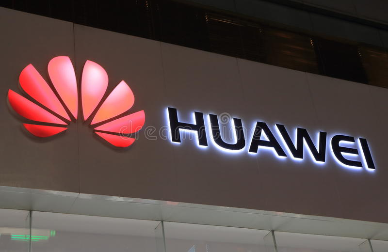 Huawei mobile phone China stock photos