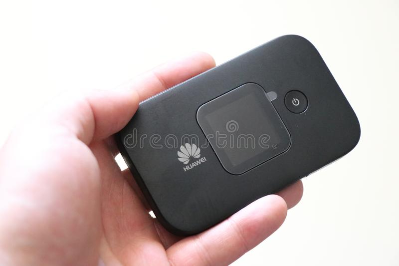 Huawei portable modem, to connect on the go. royalty free stock image