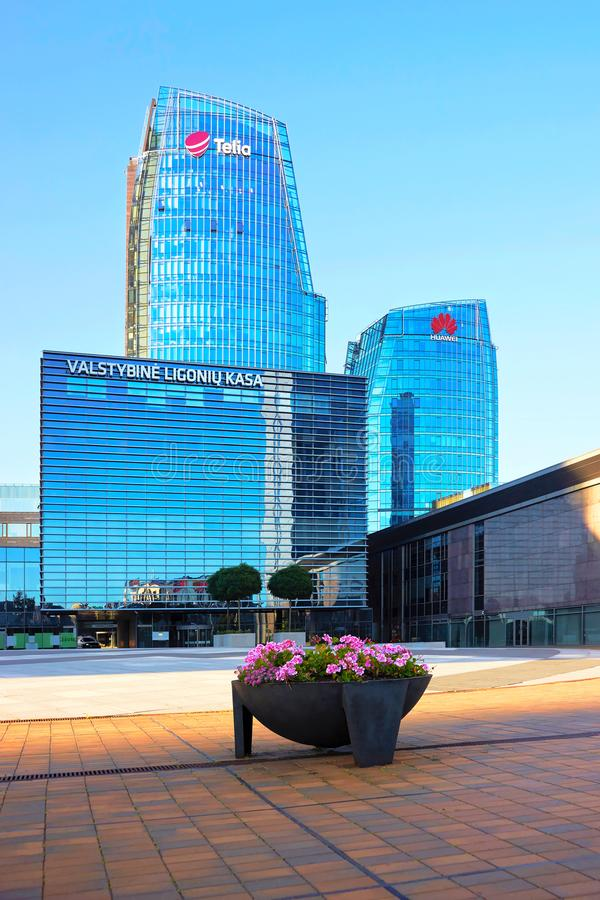 Huawei Technologies and Telia companies headquarter Vilnius royalty free stock images