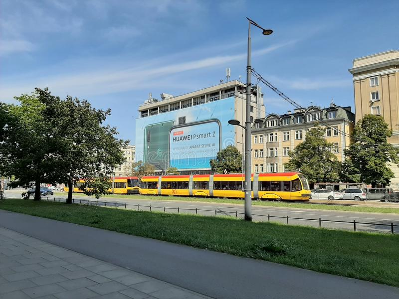 Huawei in Warsaw. Poland, warszawa, polska stock photos