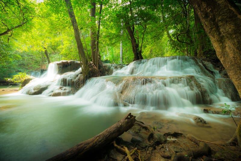Huay Mae Kamin瀑布国家公园 美丽的瀑布在泰国 图库摄影