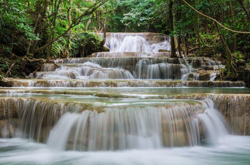 Huay-mae kamin schöner Wasserfall in Kanchanaburi, Thailand lizenzfreie stockfotos
