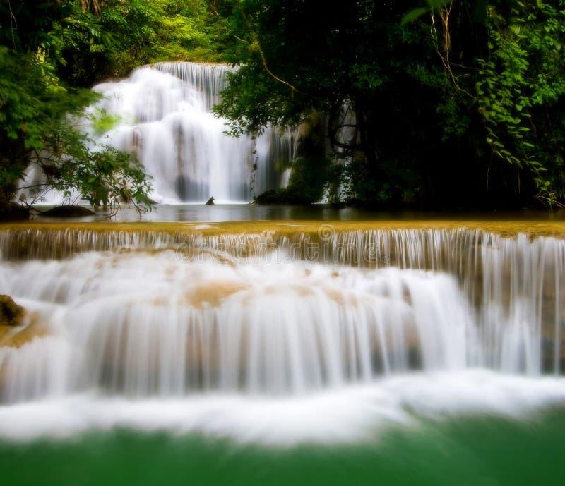 Huay Mae Khamin vattenfall arkivfoton