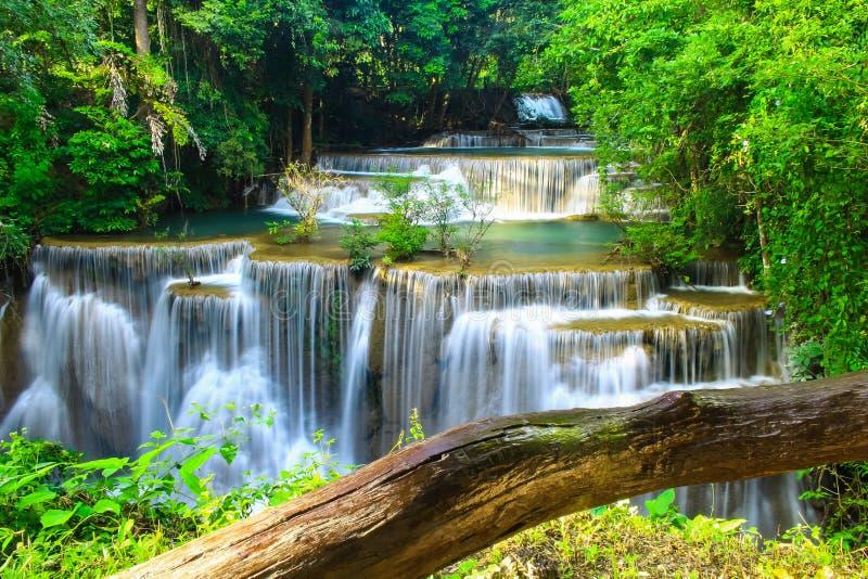 Huay Mae khamin waterfall a beautiful stock image