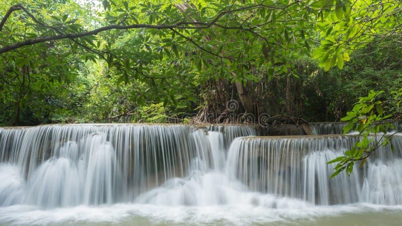 Huay Mea Kamin Waterfal, province localisée de Kanchanaburi images libres de droits